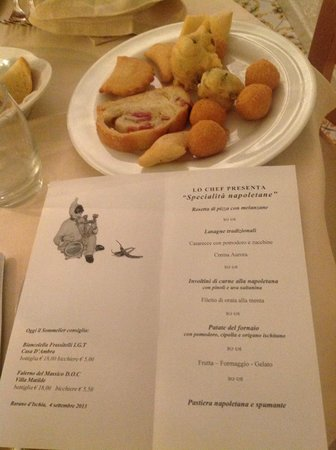 Hotel San Giorgio Terme : decorazioni per la serata napoletana