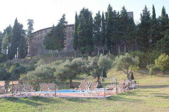 Castello di Petroia : Vista dalla piscina