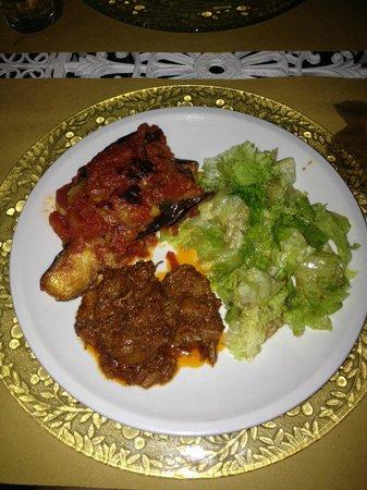 Il Vicario : Salad, stew, eggplant