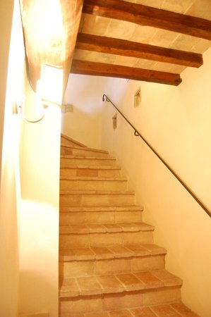 Torre Palombara - Dimora Storica: The stair in our suite leading up to the bedroom.