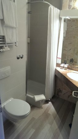 RAMADA Hotel Frankfurt-Messe: Dusche (oder eher NassZELLE)