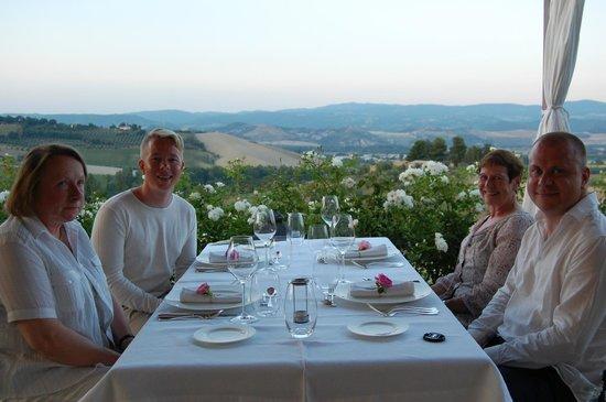 Locanda Palazzone: Late night dinner at the patio.