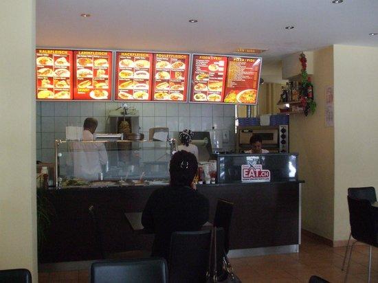 Original Kebap House : counter and menu board