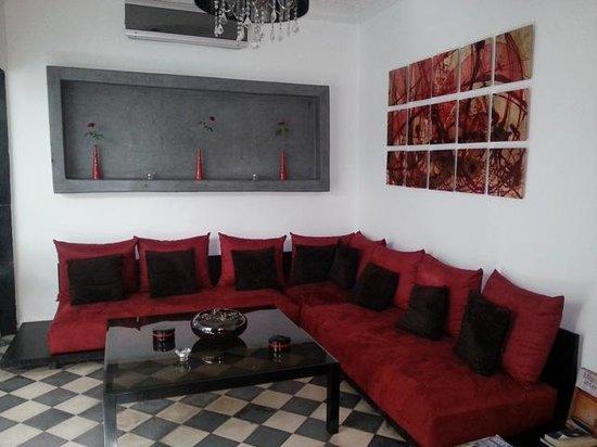 Riad Elizabeth : A lounge area