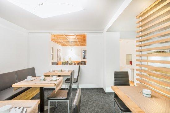 Frühstücksraum im Lifestyle Hotel Lün