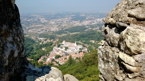 Sintra Boutique Hotel : View of Sintra from the Moorish Castle