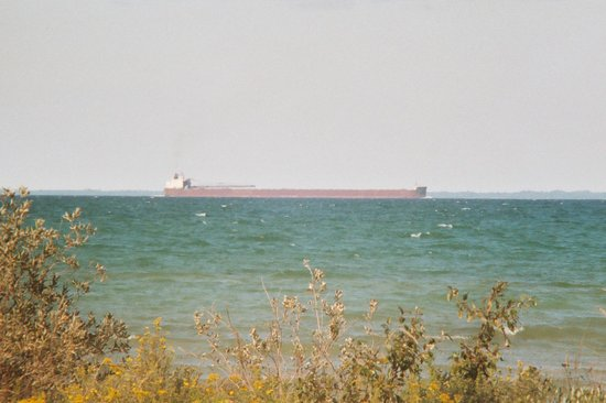 Wilderness State Park: Passing freighter