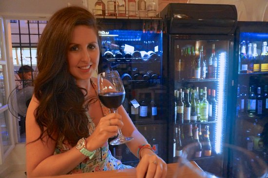 La Casa Del Rey: Enjoying a glass of rich Rioja