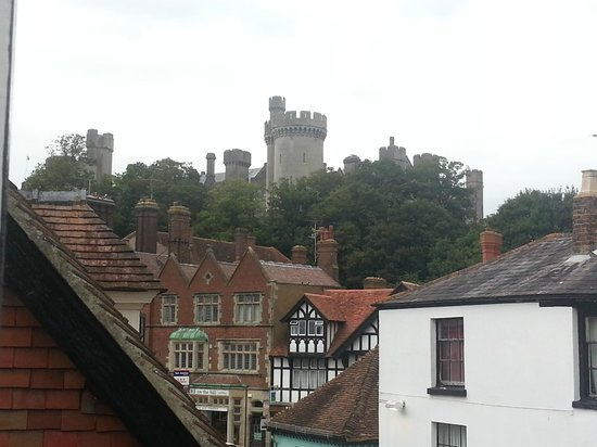 The Swan Hotel : View from my bedroom window up to the castle.