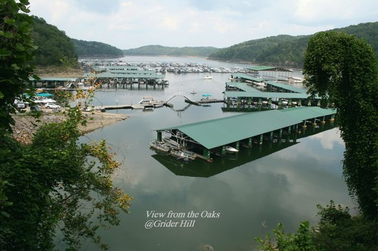 Grider Hill Dock Indian Creek Lodge: View from the Oaks Suites
