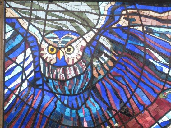 Cosmovitral Jardín Botánico: El ave de la sabiduría.