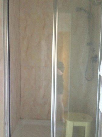 Hotel Duomo room bathroom, Siena, Italy
