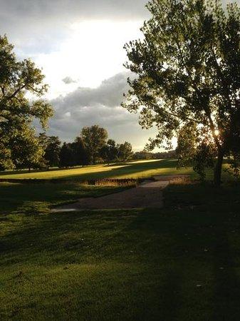 Collindale Golf Course: #13 approach view, par 5