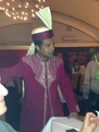 Waiters at Anoki in fabulous outfits