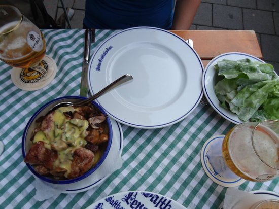 Altes Gasthaus Leve: Before and after eating, the plate was empty...