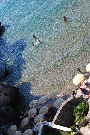 Grand Hotel Le Rocce: mare e spiaggia le rocce