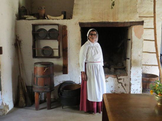 The Village Museum : interior of oldest house with lovely guide