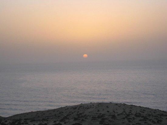 Playa de Cofete: Puesta de sol