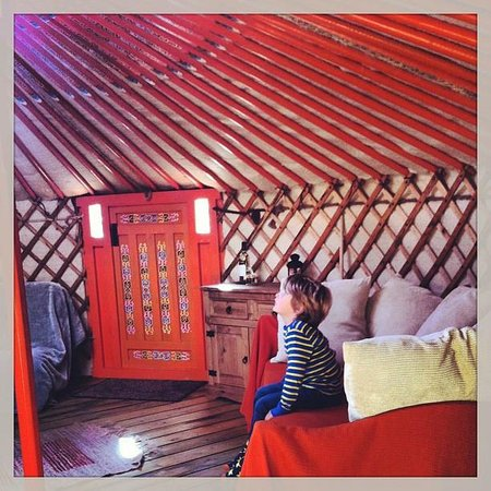 Mid Wales Tipis: Inside the Yurt