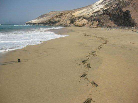 Playa de Cofete: Huellas