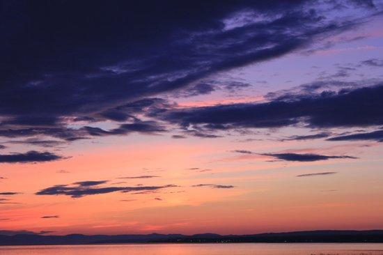 Les Chalets du Bioparc : coucher de soleil