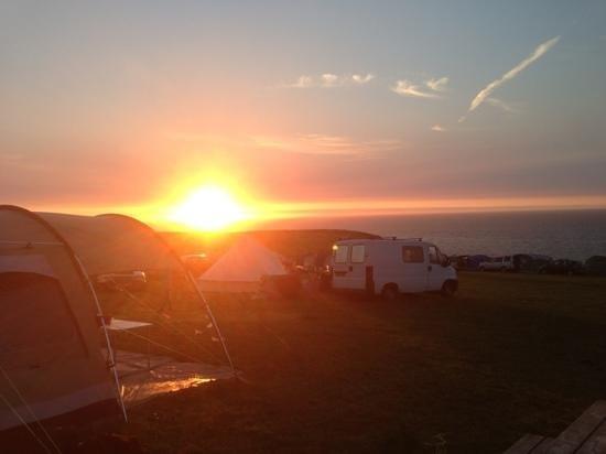 Celtic Camping: best sunset!