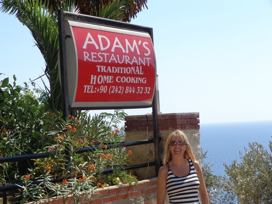 Outside Adam's Place.