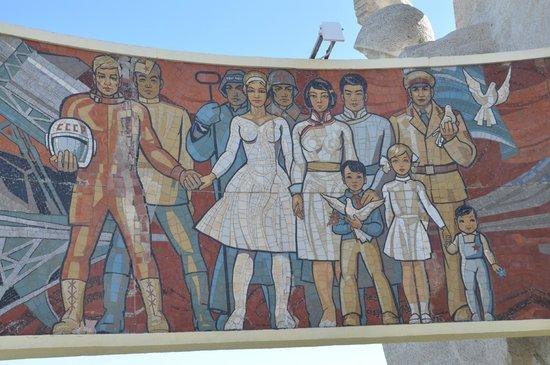 Zaisan Memorial: Part of Memorial mural