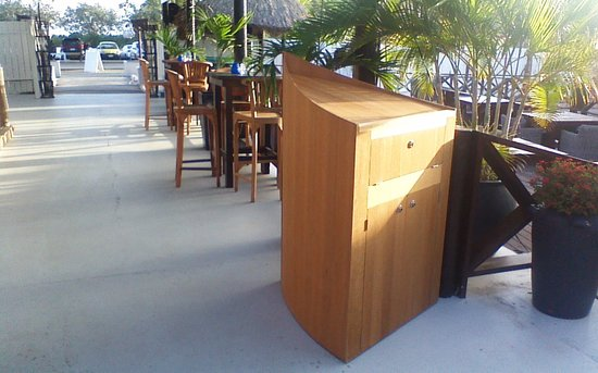 The Pier: our boat/counter