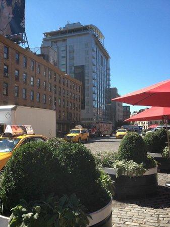 Gansevoort Meatpacking NYC : Hotel from restaurant across street.