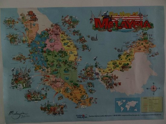 Irsia Bed & Breakfast: the interesting map of Malaysia...