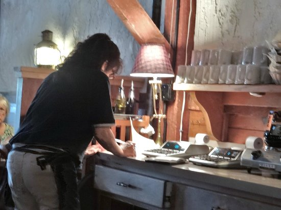 The Steakhouse: Our Server Hard At Work