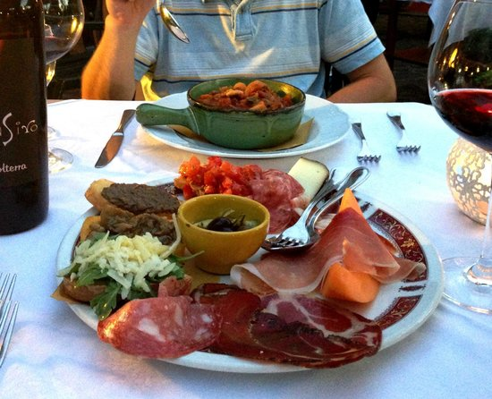Antipasto at Molino D'Era, Volterra, Italy