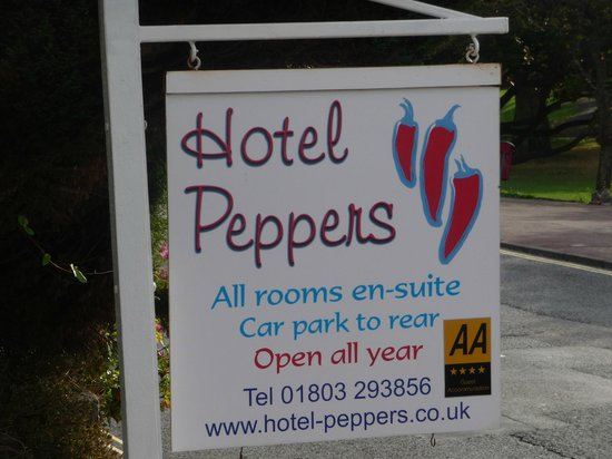 Hotel Peppers: The sign says it all