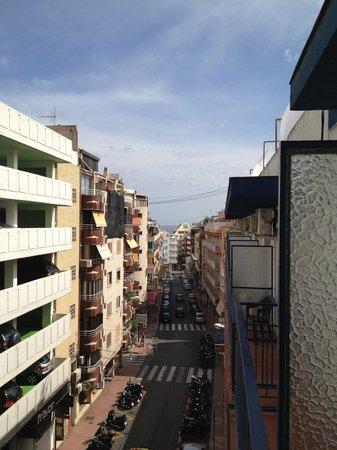 Pension La Orozca: view from balcony down the street..