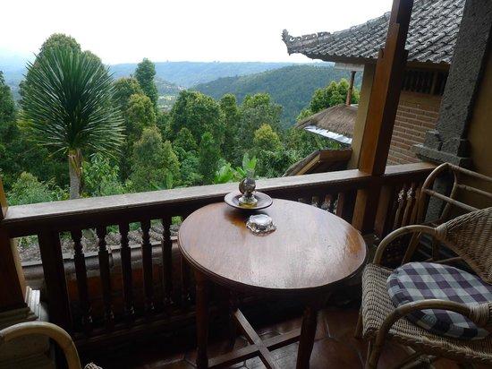 Puri Lumbung Cottages: Balkon mit Aussicht