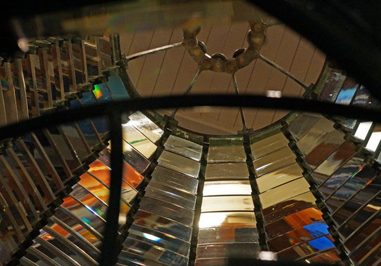 Santa Barbara Maritime Museum: Inside Fresnel lens