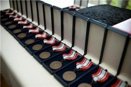 Camp Hale: The Medals in Washington DC for the Mostly Norwegian/American 99th group.