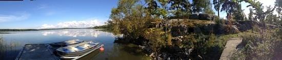 Sastaholm Hotell & Konferens: lake below hotel