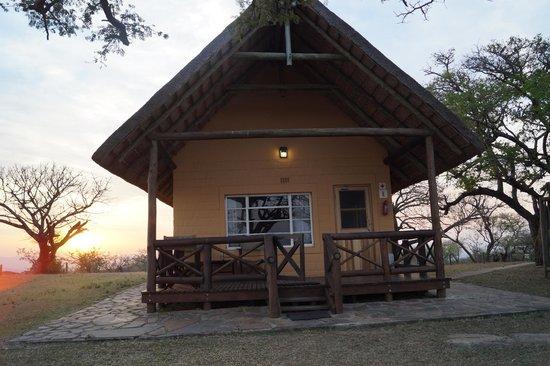 Mpila Camp: Blick auf Cottage 7