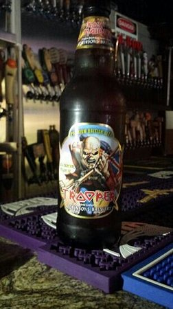 """Hopjacks Pizza Kitchen & Taproom: The only bar/restaurant on the Gulf Coast to get """"Iron Maiden Beer!"""""""