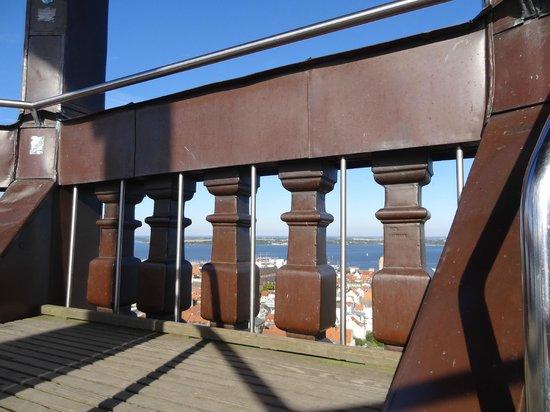 St. Marienkirche: Geländer der Turmolattform