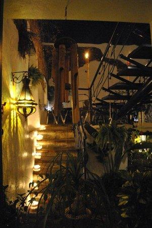 Escaleras de noche