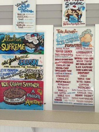 Twin Acres Ice Cream Shoppe: The many delicious flavors