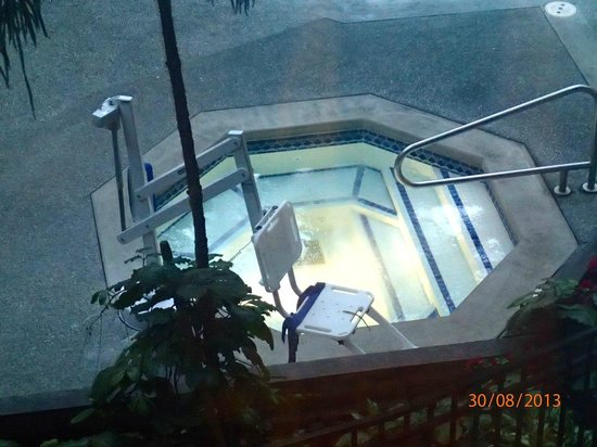 Seattle Airport Marriott: Hotel Jacuzzi with disabled lift