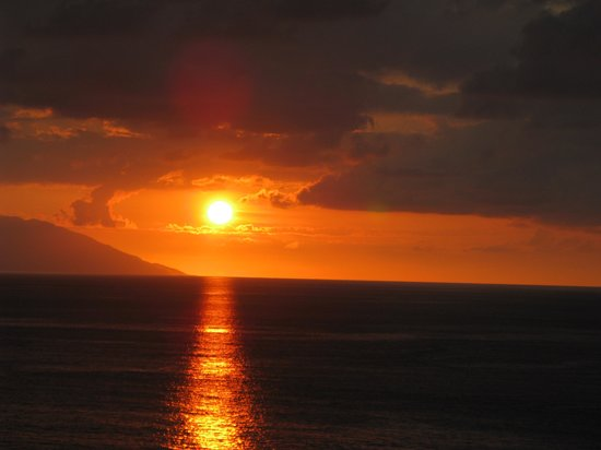 Playa de los Muertos: sunset