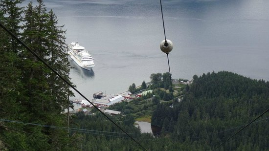 Icy Strait Point: View from the top of the ZIP WIRE