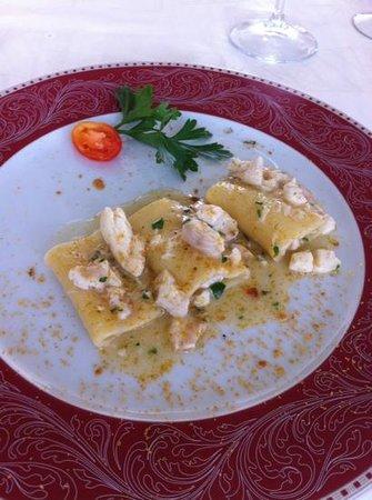 Restaurant La Villa: paccheri con pezzogna e bottarga