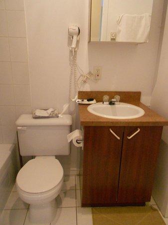 Hotel l'Abri du Voyageur : Small but quaint and clean bathroom