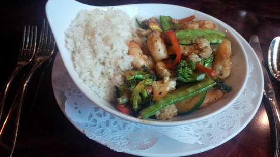 360 Restaurant-Apache Casino Hotel: Asian Stir Fry with shrimp